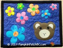 Teddy Bear Mug Rug PPP036