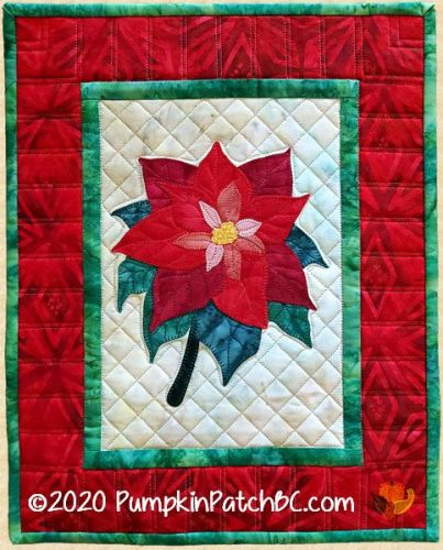 PPP-057 Poinsettia Wall Hanging