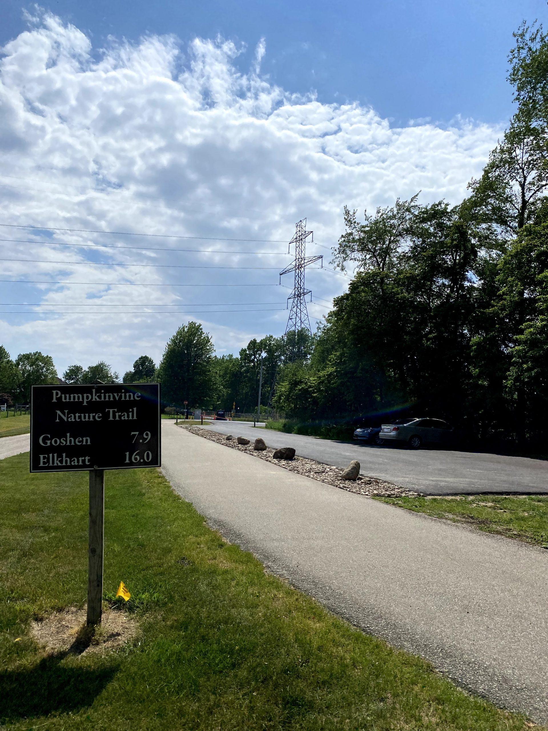 Pumpkinvine Nature Trail CR 35 parking lot