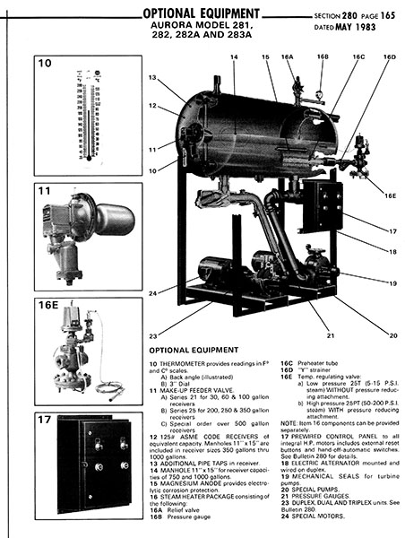Item # SIMPLEX-MODEL 281, Aurora Series 280 Boiler Feed