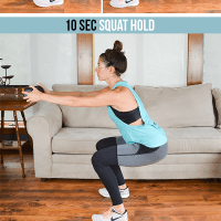 12-Minute Dumbbell Tabata Workout with Holds