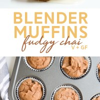 Fudgy Chai Blender Muffins (Vegan)