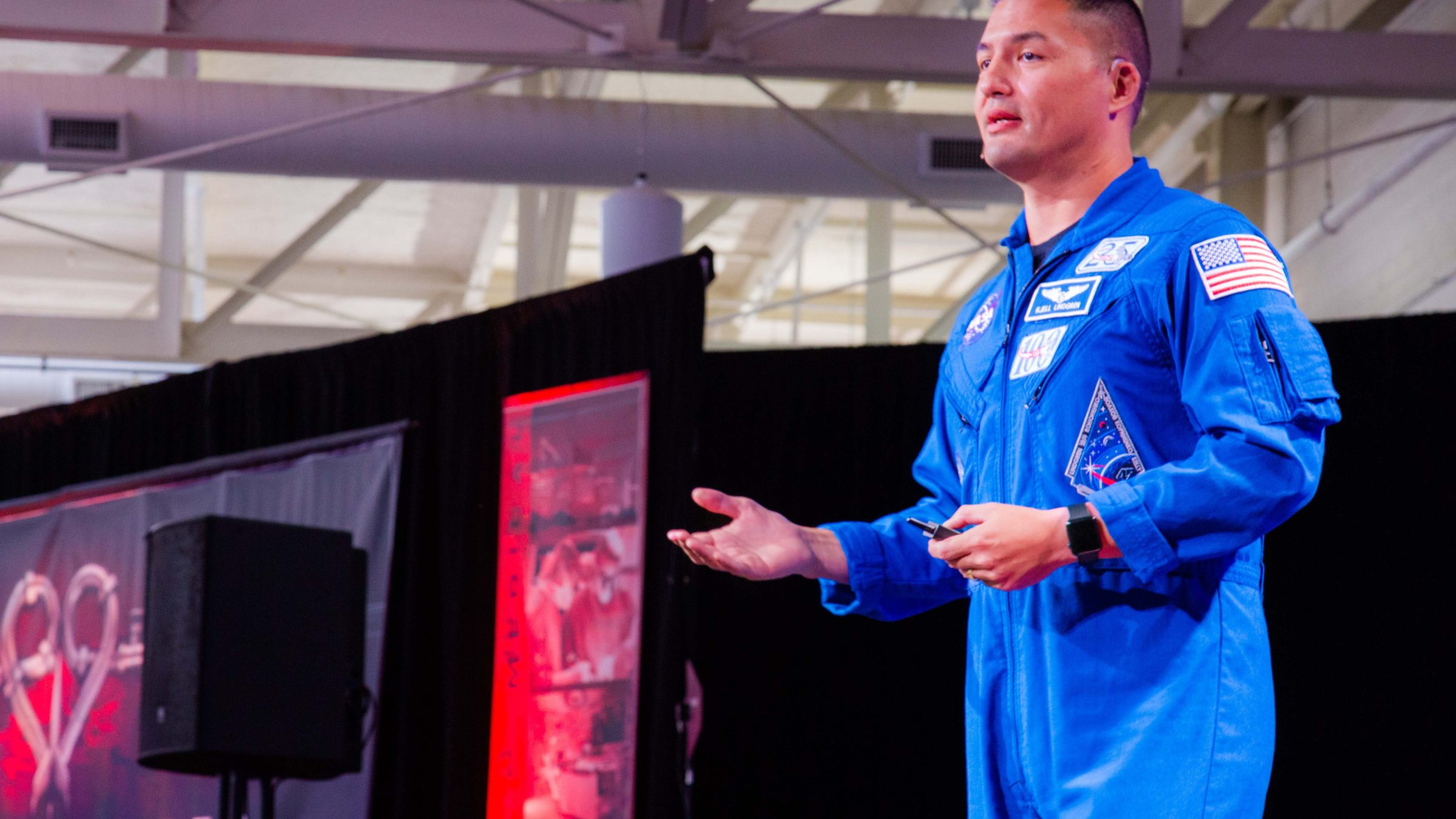Astronaut and cardiovascular physiologist Kjell Lindgren, MD, speaks at P&P11.