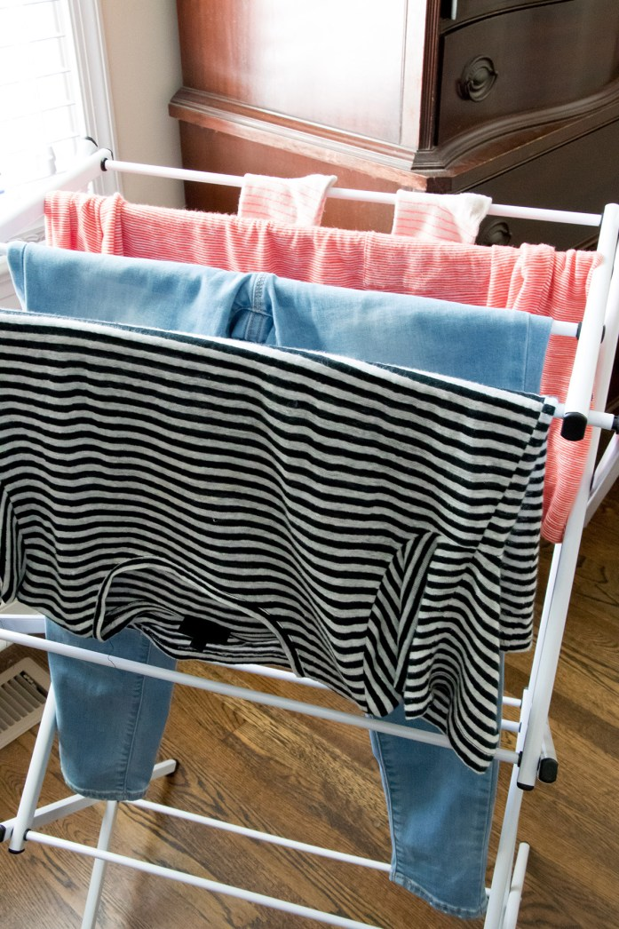 Use a drying rack to extend time before washes.