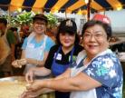 Lee Ann Nicolay, Catherine Tompkison, and Lynne Obatake Yorita