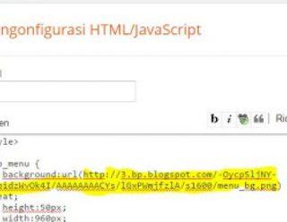 Tutorial Membuat Menu Navigasi di Blog dengan Kode Javascript