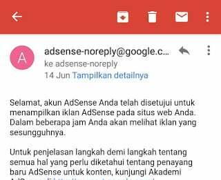 Diterima Adsense Full Approve Setelah Penolakan 11 kali