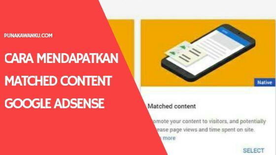 mendapatkan matched content