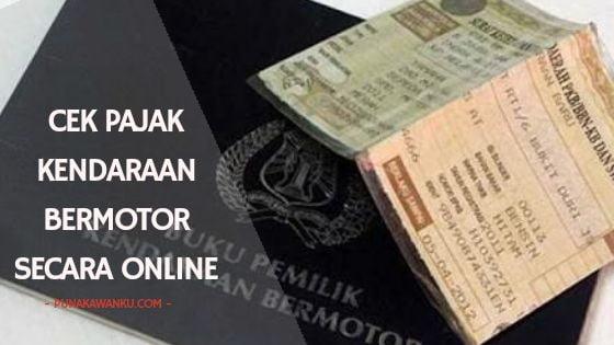 Cek pajak kendaraan bermotor secara online di jawa timur