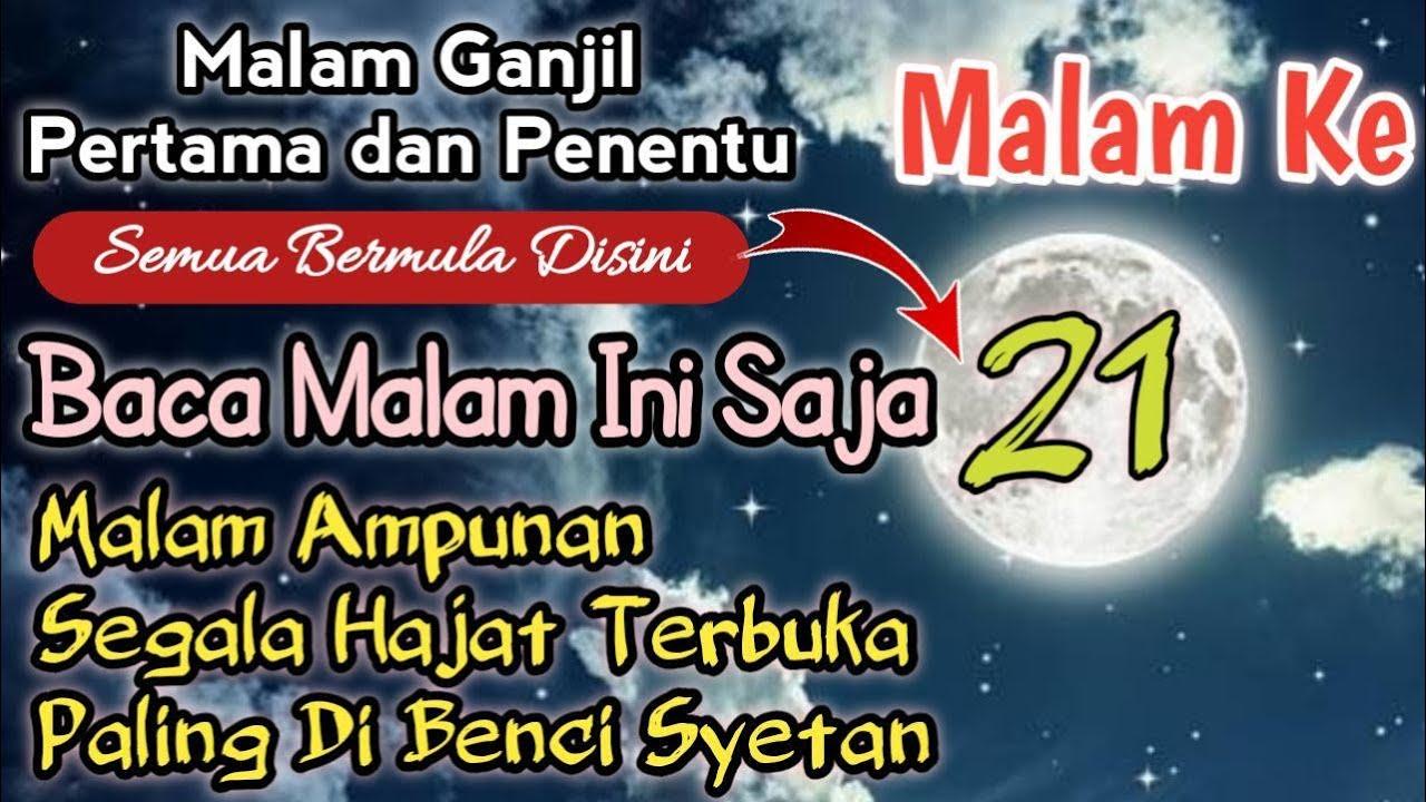 Doa Malam 21 Ramadhan