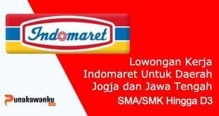 Lowongan Kerja Indomaret Untuk Daerah Jogja dan Jawa Tengah