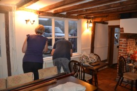 Volunteers helping through our most recent refurb