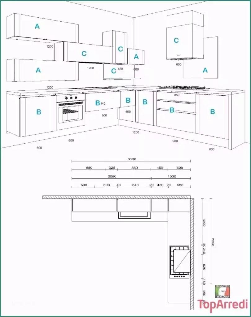 Misure Cucine Componibili Ad Angolo E Cucina Outlet 11 ...
