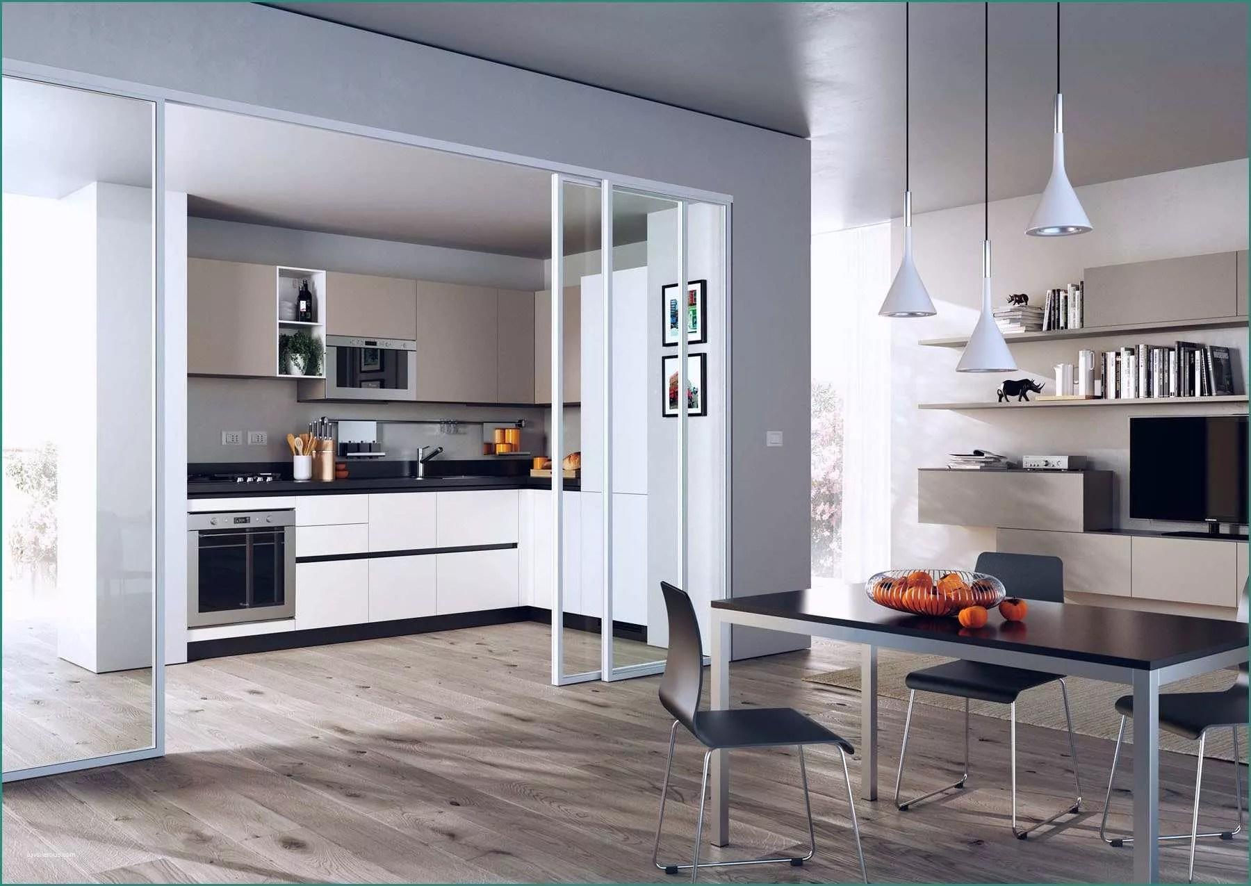 Cucina soggiorno Ambiente Unico Piccolo E 10 Fantastico