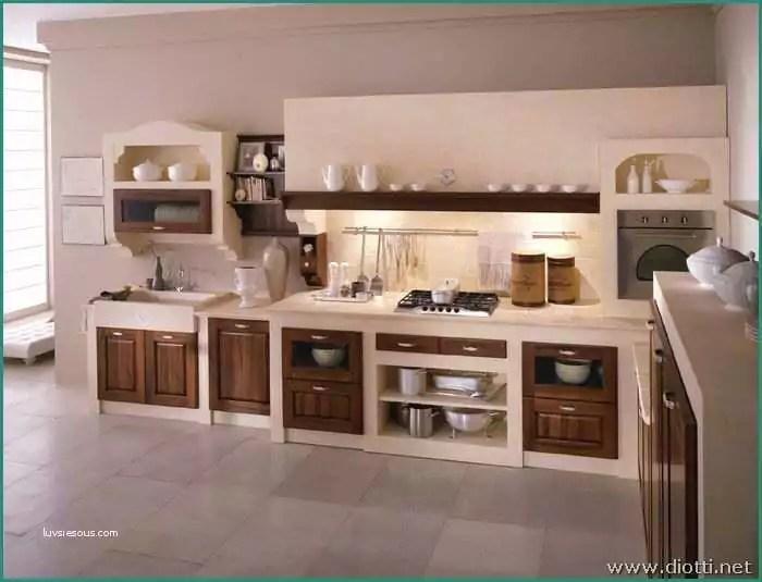 Cucina In Muratura Lineare   Cucina In Muratura Bianca ...