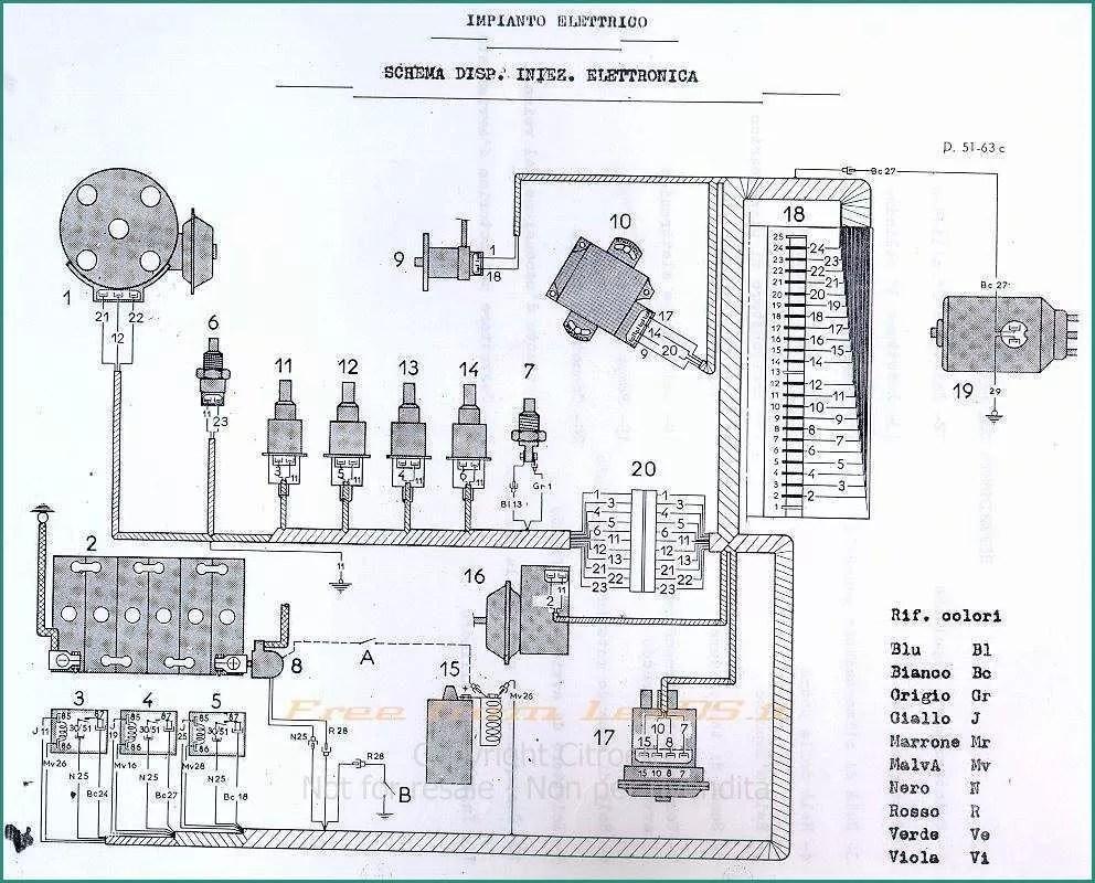 Legenda Impianto Elettrico E Impianto Elettrico Cagiva T4