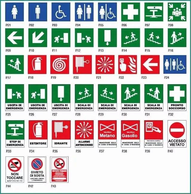 Segnaletica Sicurezza Dwg E Cartelli Piano Evacuazione