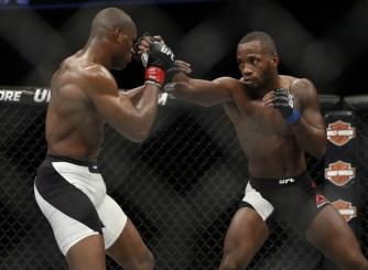 December 19, 2015; Orlando, FL, USA; Kamaru Usman defends against Leon Edwards during UFC Fight Night at Amway Center. Mandatory Credit: Reinhold Matay-USA TODAY Sports