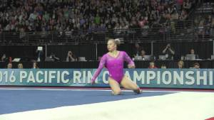 Brenna Dowell (USA) - Floor - 2016 Pacific Rim Championships Team/AA Final
