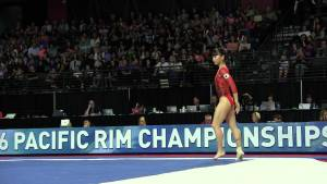 Mana Oguchi (JPN) - Floor Exercise - 2016 Pacific Rim Championships Team/AA Final