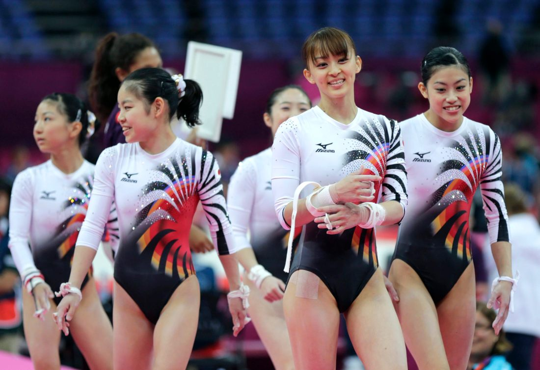 Japan's women gymnasts team