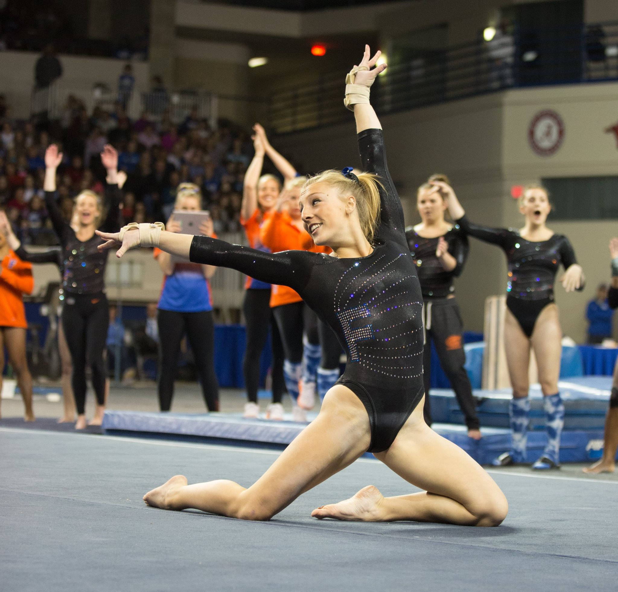 Alex mcmurtry academic all america punch front for Floor gymnastics