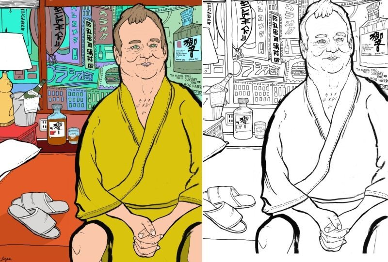 A Coloring Book About Bill Murray