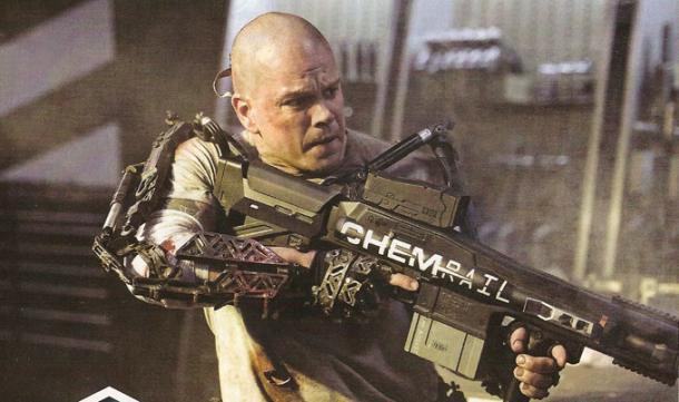 Matt Damon is Bald in Elysium