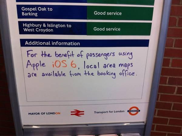 Advisory: iOS6 Maps Suck