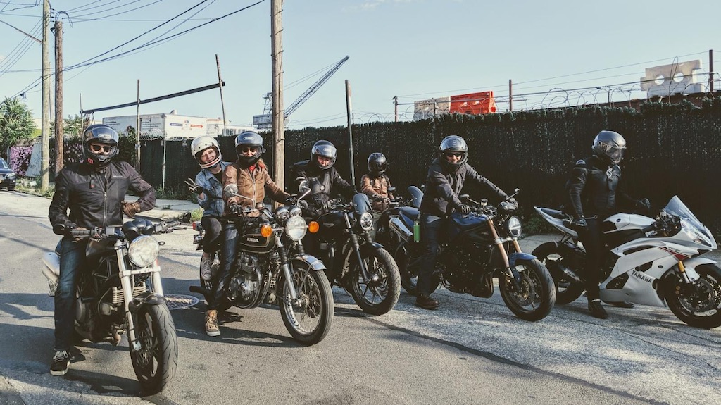 These Bikers Wear Masks, and Distribute Them