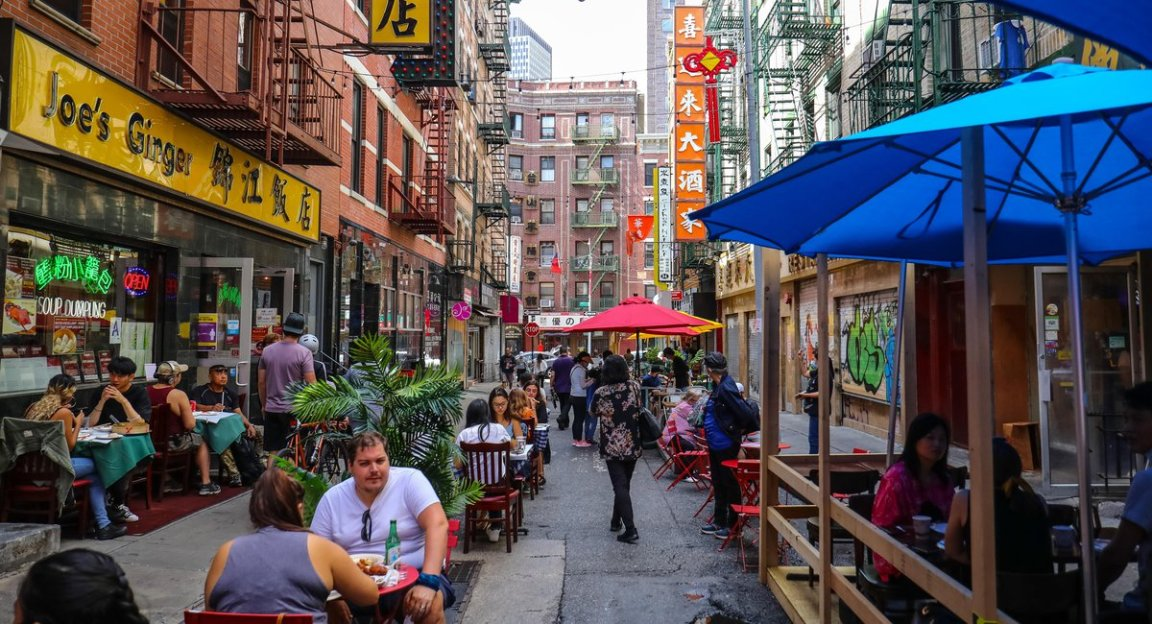"""De Blasio: NYC Outdoor Dining Will Become """"Permanent And Year-Round"""""""