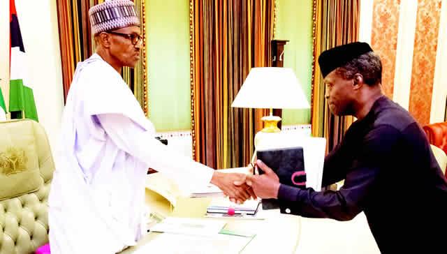Image result for 100th day of medical leave: Buhari, Osinbajo make history