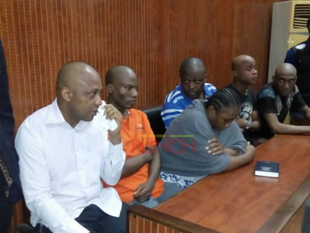 Image result for Evans, five others in court File Photo