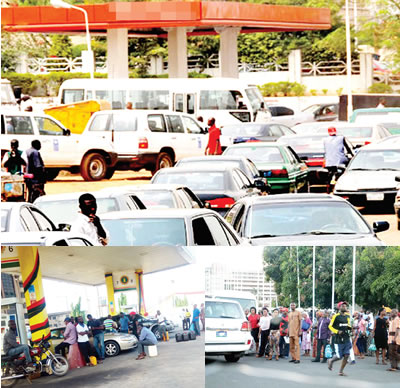 Image result for Consumers groan in Lagos, Abuja as fuel scarcity worsens