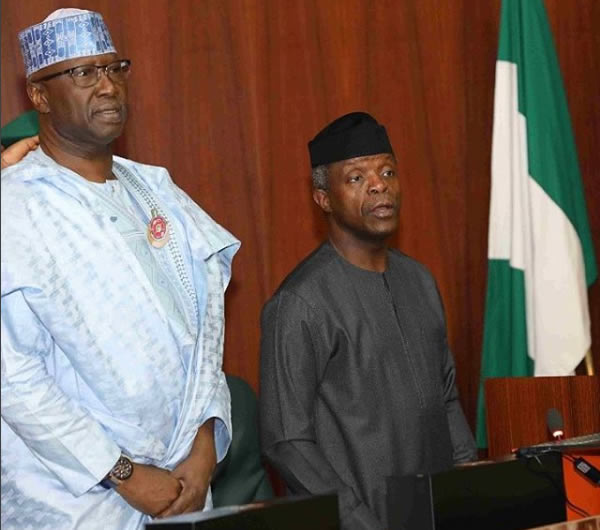 Image result for Why FG hasn't prosecuted some treasury looters – Osinbajo