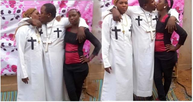 Image result for PHOTOS: 'Prophet' arrested for kissing wife, home-help