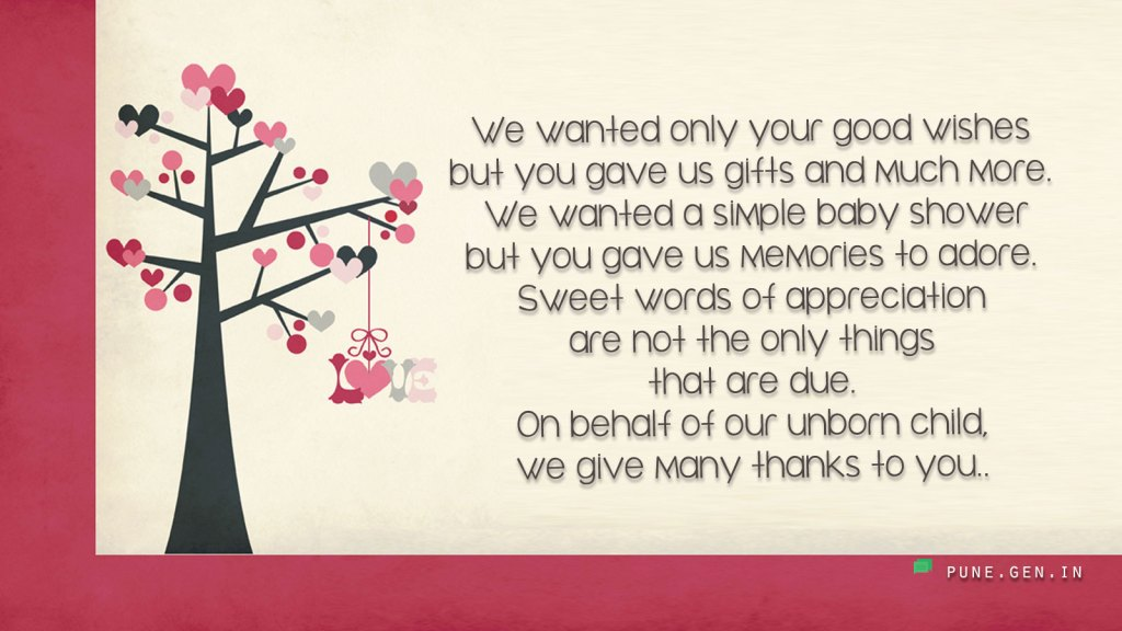 Thank You Messages for Baby Shower Gifts: Thank You Notes - Wishes
