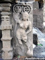 Apsara on entrance pillar