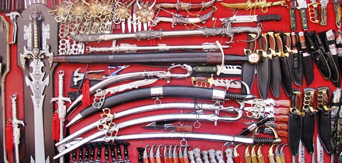 Weaponry at Pushkar Market