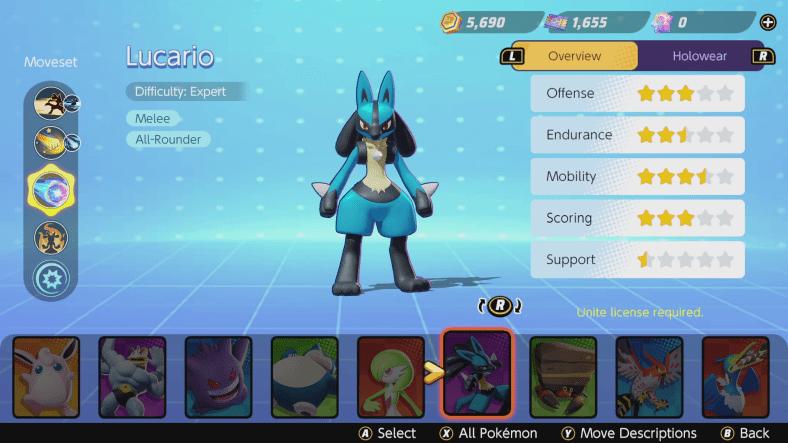 Pokémon Unite tier list - All-Rounders - Lucario