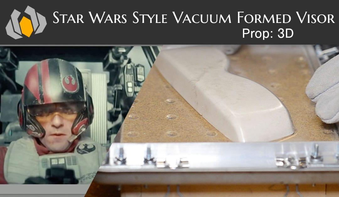 Prop: 3D – Season 1, Episode 4 – Star Wars Style Vacuum Formed Visor