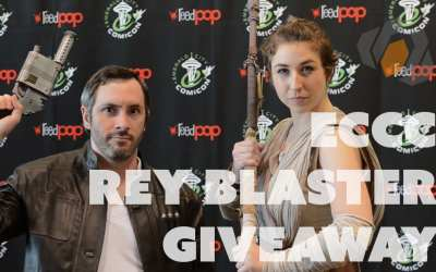 Han Solo gives out Blasters to Rey Cosplayers at ECCC 2016