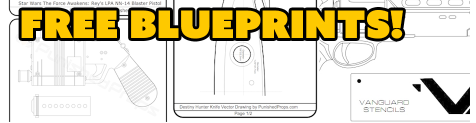 Free blueprint files for prop making over the years weve created articles and video tutorials that have blueprints and templates associated with them all of those free files are now in one malvernweather Choice Image