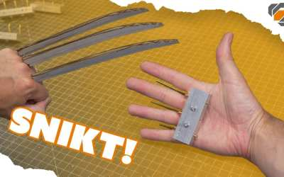 Wolverine's Prop Claws – Cosplay Tutorial Part 1 – Hand Grips
