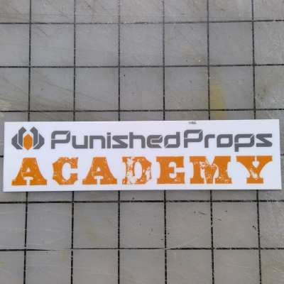 Punished Props Academy Logo Sticker