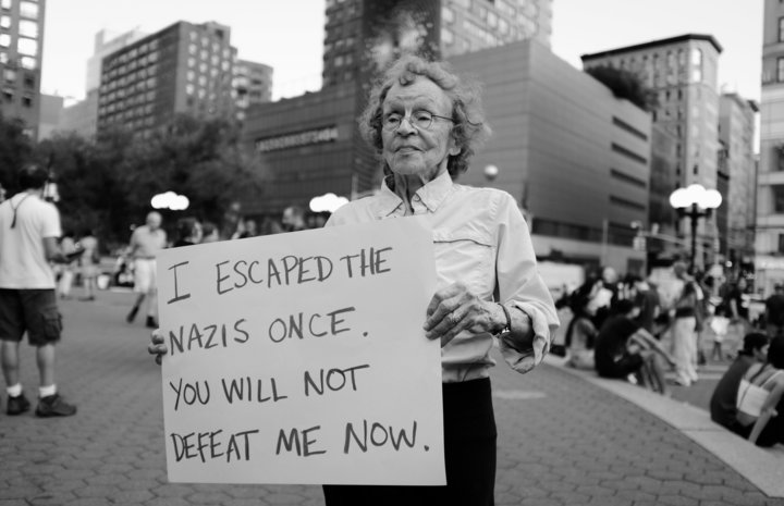 Marianne Rubin Protesting