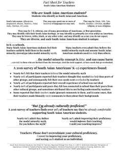 Fast Facts for Teachers on Supporting South Asian American Students