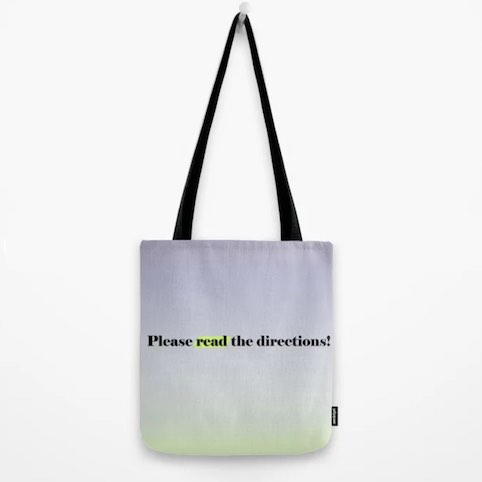 Tote bag for teachers.