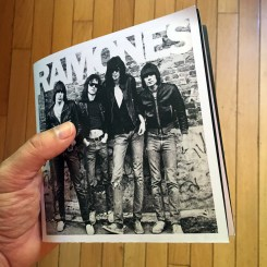 Ramones' exhibition booklet, about the size of a 45 record.