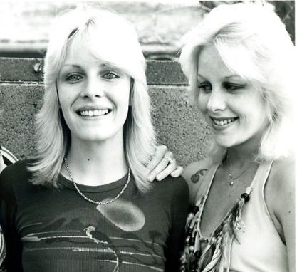 Vicki Razor Blade from Venus And The Razor Blades with teenage Cherie Currie. I took this photo in the street in front of Cherie's family home back in 1977